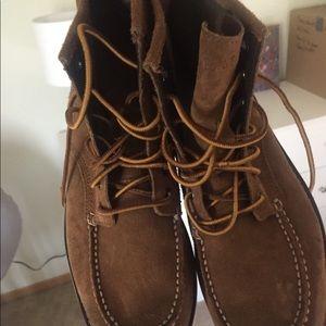 Men's eastland rough suede light brown boot